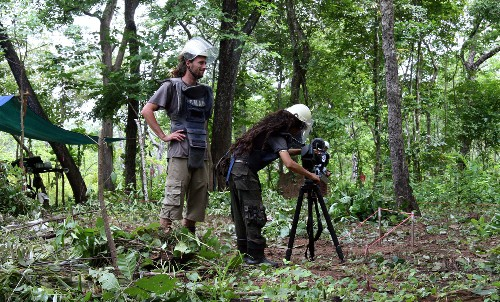 A minefield in Cambodia, filming in full landmine protective gear with Jeremy Etienne for CONSEQUENCES - landmines & UXOs(Photo: Alain Coquet)