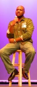 Spoken word artist, Cedric Hameed