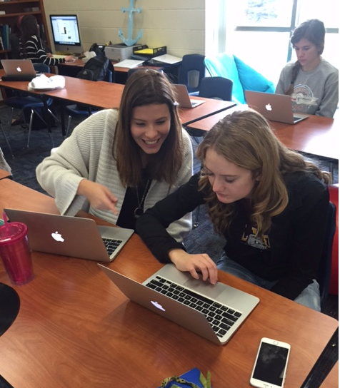 IB students at Bay Port high school utilize technology.