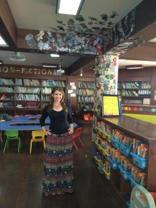 IB alumna Nina Roman now works as a librarian at the Altair School in Lima, Peru.