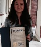 Le 5 janvier 2016 était la journée consacrée à Ashley Zhou à St. Petersburg, en Floride, une journée proclamée par le maire de la ville pour mettre en lumière et encourager l'excellence scolaire.