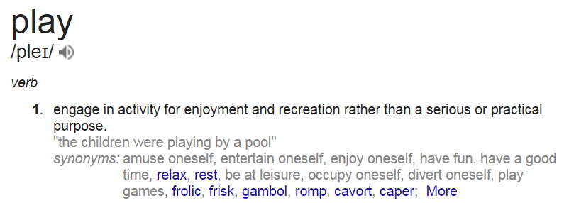 Perfect Definition Of Play