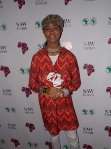 ZO After Receiving A New African Woman Award in London March 2016