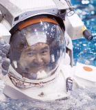 Akihiko Hoshide actively colaborates with the Japanese Aereospace Exploration Agency and works at the space center of  NASA in Houston, Texas.