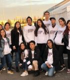 Students from Nazarbayev Intellectual School at the Astana Marathon 2018