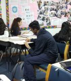DP French students working in the classroom.