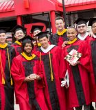 Happy SAS grads prior to commencement