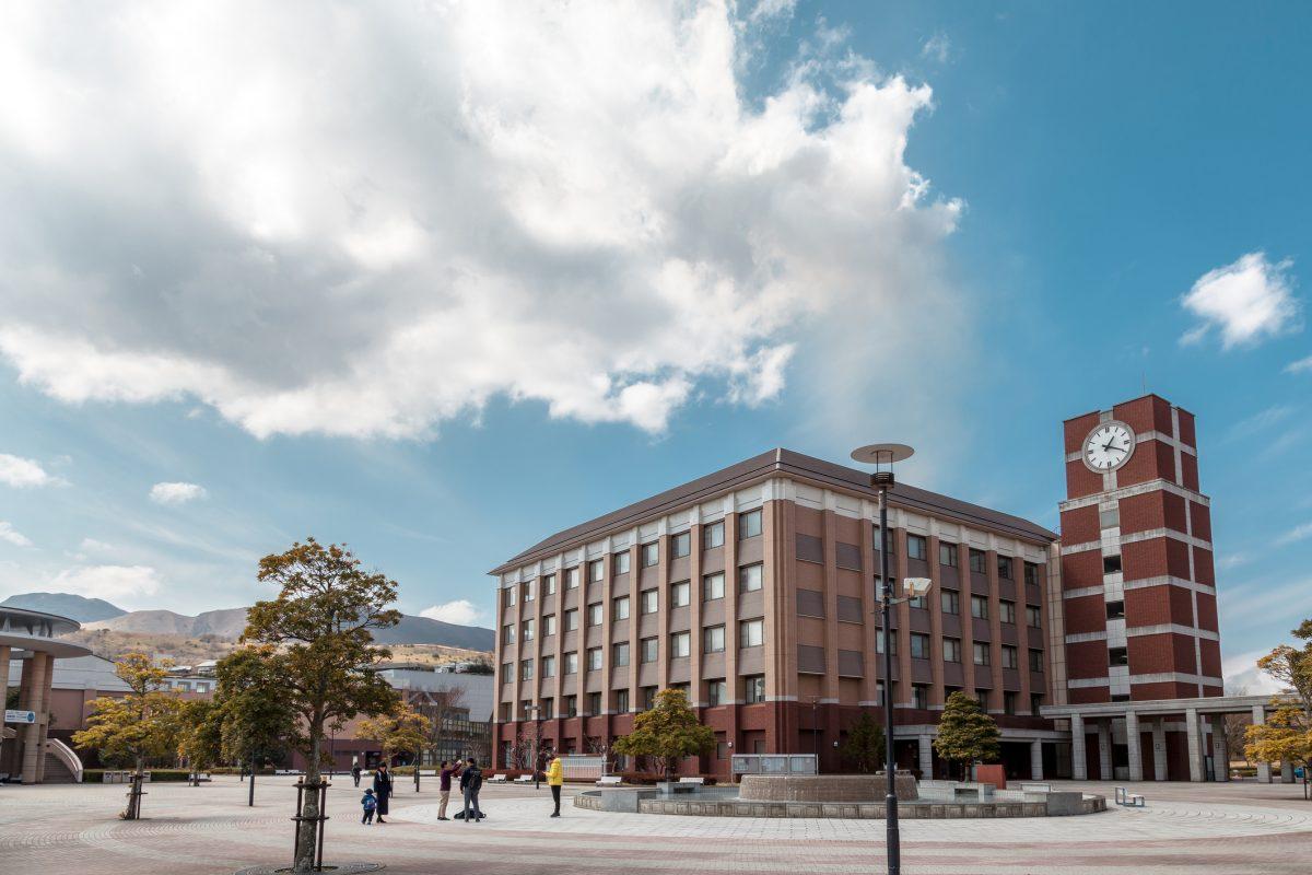 Oita, Japan - March 16, 2017 : Faculty Offices in Ritsumeikan Asia Pacific University at Beppu, Oita, Japan.