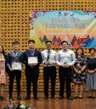 Student awardees and administrators of Xavier School