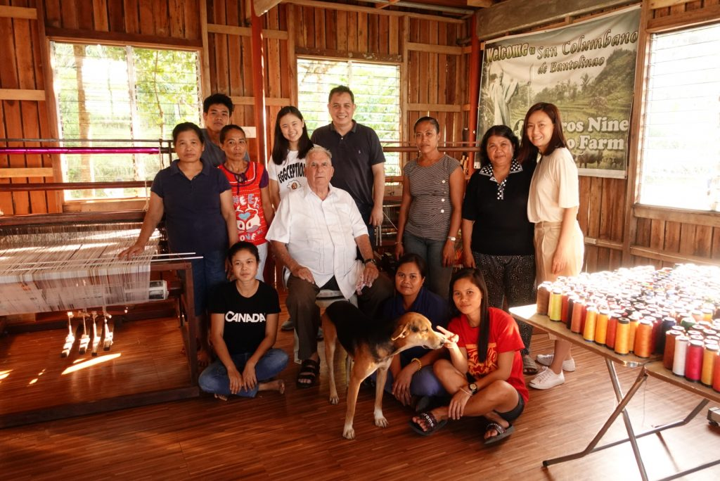 Gabrielle together with the members of her community
