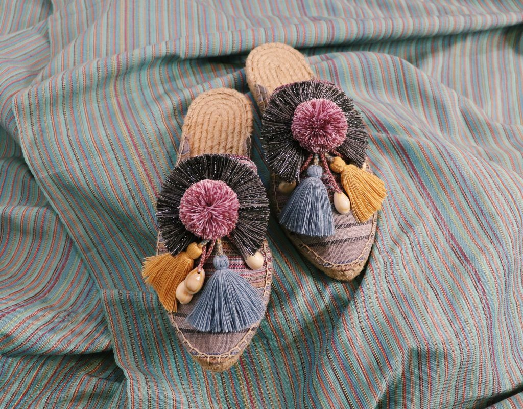 One of the shoes created using the Loom
