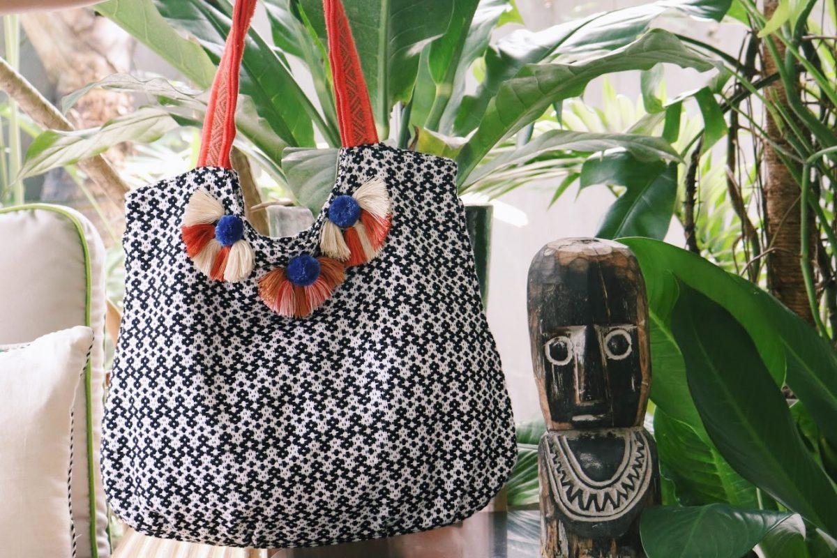 Un sac créé dans le cadre du Loom Project.