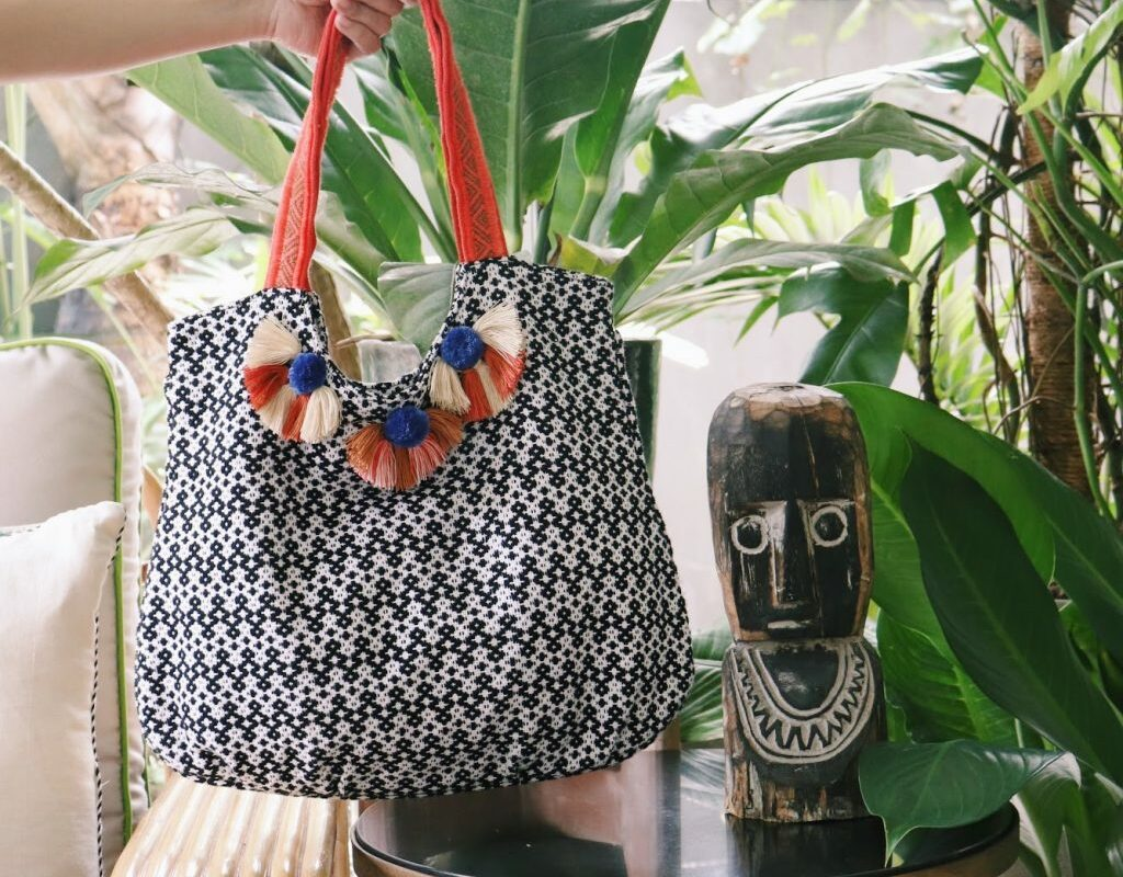 One of the bags created using the Loom