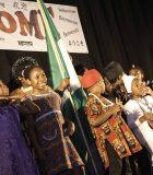Des élèves d'Azerbaïdjan sur scène lors du Festival de la semaine internationale.