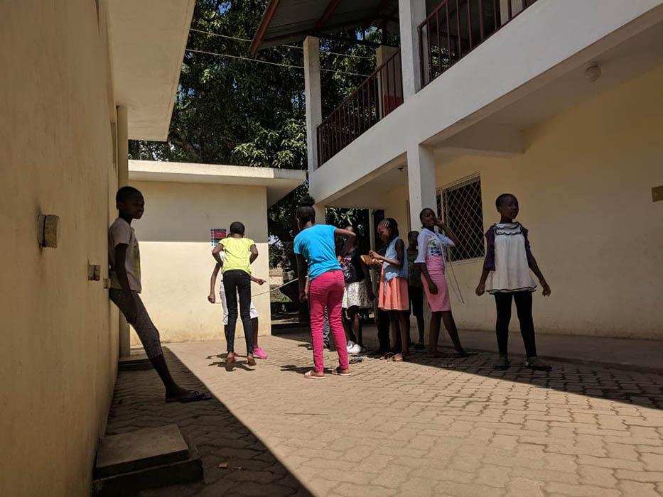 The girls playing at Unity School in Bombolulu, Kenya.