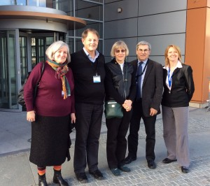 Language expert group 26 February: Eithne Gallagher, Jim Cummins, Dr Roma Chumak-Horbatsch and Dr Fred Genesee with PYP Curriculum Manager Cécile Doyen.