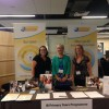 PYP development team at the booth. From left: Cloudette van der Berg, Terri Walker, Cécile Doyen.