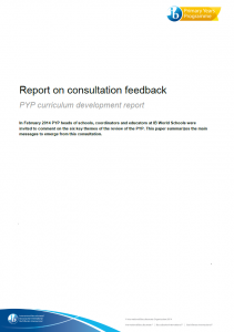 Consultation feedback report title