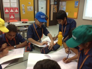 Mathematics - Grade 5 students collaboratively analyzed the mathematics problem and gave solutions.