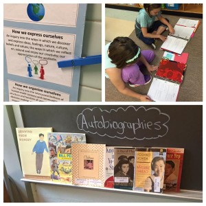 Autobiographies, students, sign