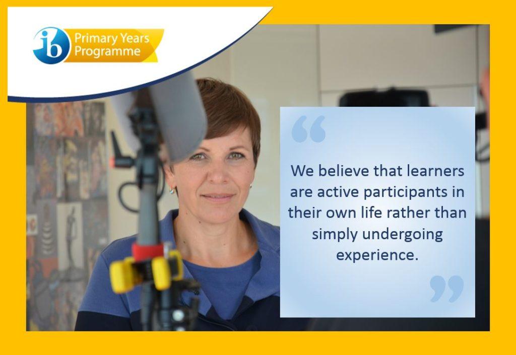 """""""Creemos que los alumnos participan activamente en sus vidas, en lugar de simplemente pasar por experiencias""""."""