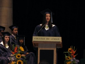 Maya Grodman at the Collège du Léman graduation in 2009