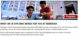 Nebraska IB policy