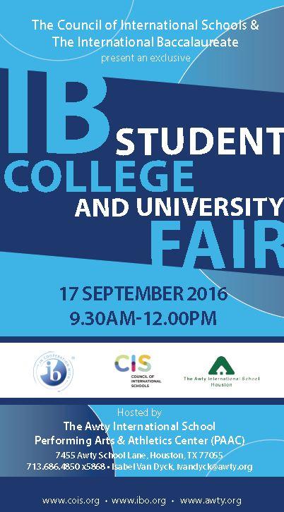Awty CIS 2016 IB Fair
