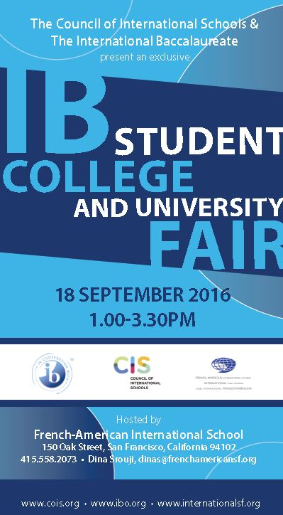 French American Int School CIS 2016 IB Fair
