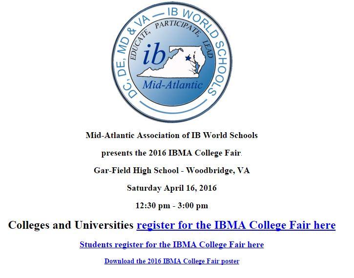 IBMA College Fair 2016