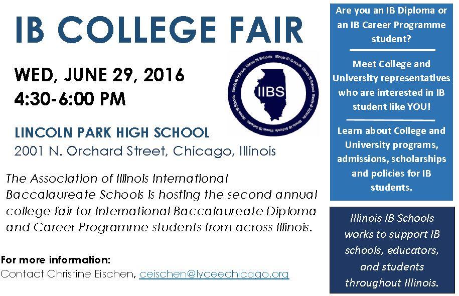 IL IB College Fair 2016