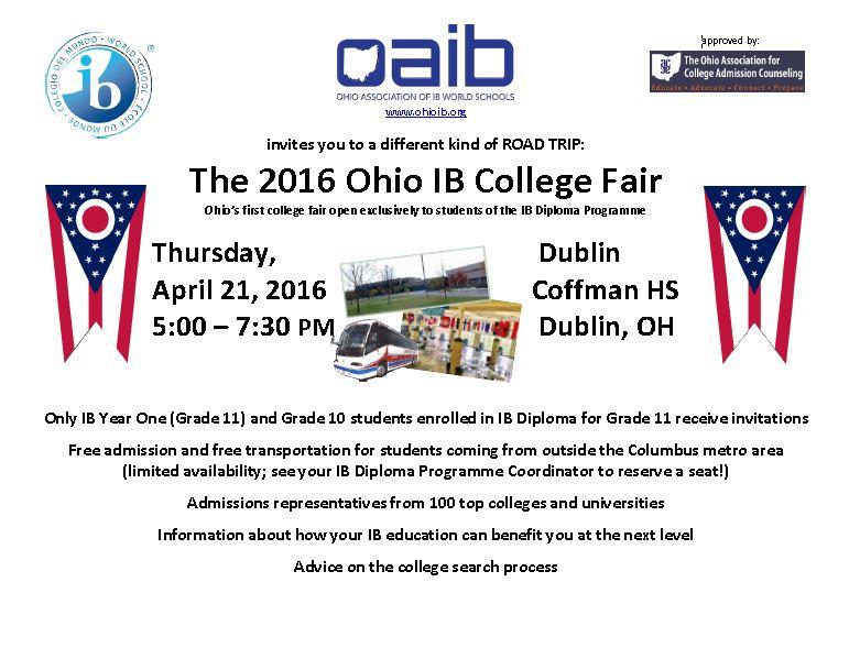 Ohio IB College Fair 2016