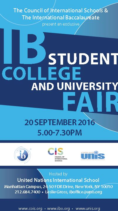 UNIS CIS 2016 IB Fair