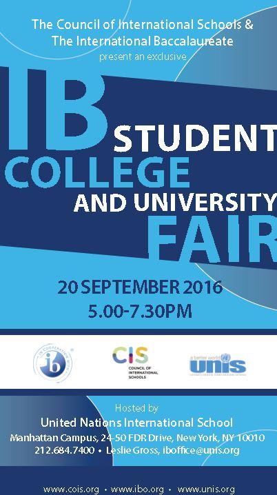 UNIS CIS 2016 IB Fair